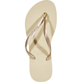havaianas Slim Sandalen Dames, sand grey/light golden